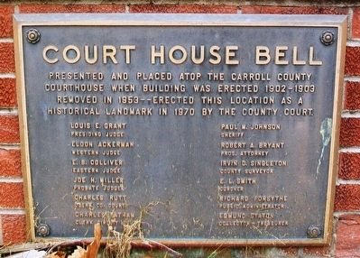 Court House Bell Marker image. Click for full size.