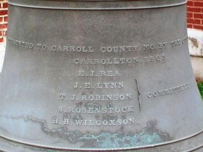 Carroll County (MO) Court House Bell Inscription image. Click for full size.