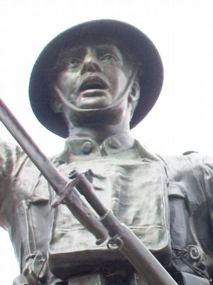 Wentworth World War Memorial Statue Detail image. Click for full size.