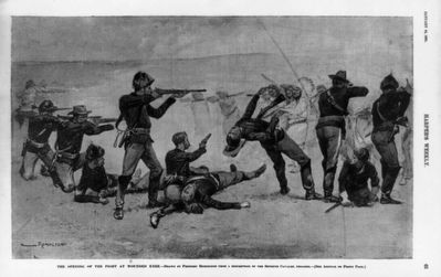 <i>The Opening of the Fight at Wounded Knee</i> image. Click for full size.
