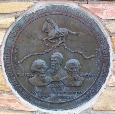 Russell, Majors and Waddell Pony Express Centennial Marker image. Click for full size.