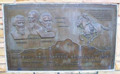 Pony Express Centennial Marker image. Click for full size.