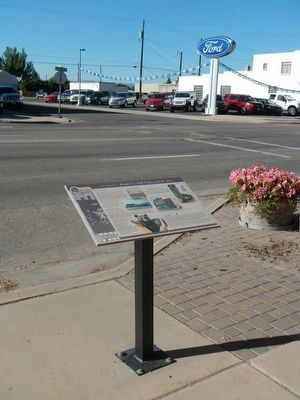 Model T's, Odd Fellows and the News Marker image. Click for full size.
