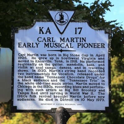 Carl Martin Marker image. Click for full size.