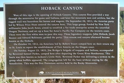 Hoback Canyon Marker image. Click for full size.