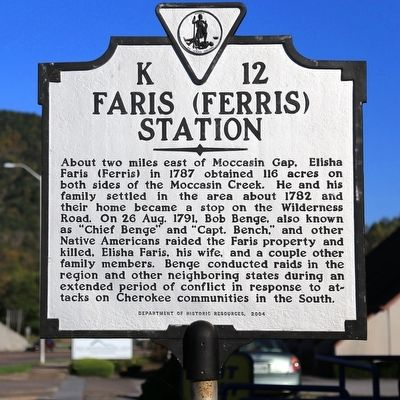 Faris (Ferris) Station Marker image. Click for full size.