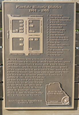 Pinedale Historic District Marker image. Click for full size.
