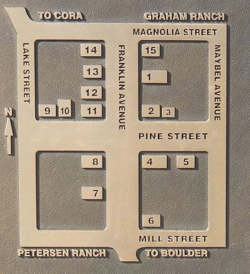 Pinedale Historic District Marker (detail) image. Click for full size.