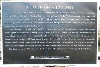 A Pause on a Journey Marker image. Click for full size.