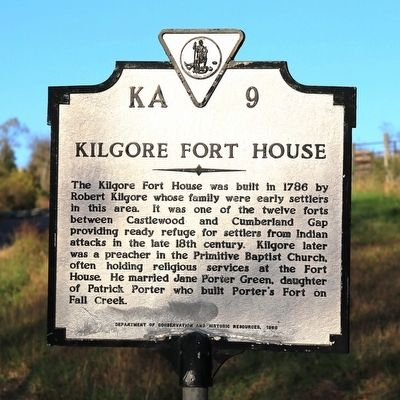 Kilgore Fort House Marker image. Click for full size.
