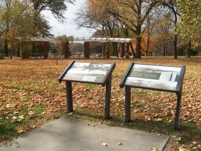 Their Waning Years and Confederate Memorial Park Markers image. Click for full size.