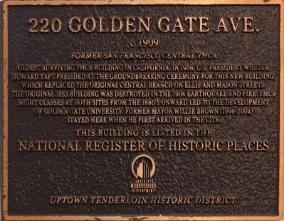 220 Golden Gate Ave. Marker image. Click for full size.