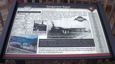 Dungannon Depot Marker image. Click for full size.