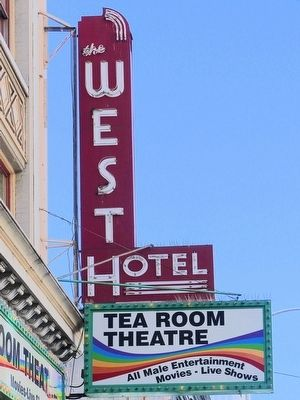 West Hotel Sign image. Click for full size.
