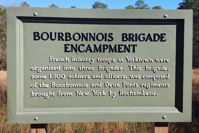 Bourbonnois Brigade Encampment Marker image. Click for full size.