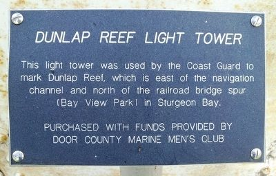 Dunlap Reef Light Tower Marker image. Click for full size.