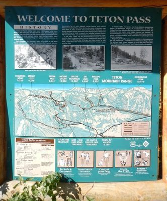 Welcome to Teton Pass Marker image. Click for full size.