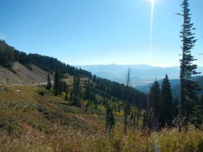 Jackson Hole from the Teton Pass Summit image. Click for full size.