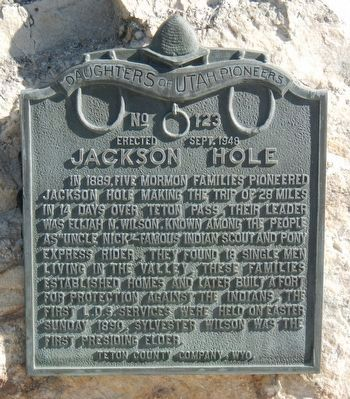 Jackson Hole Marker image. Click for full size.