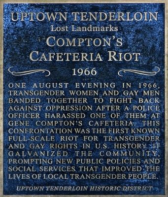 Compton&#39;s Cafeteria Riot<br>1966 Marker image. Click for full size.