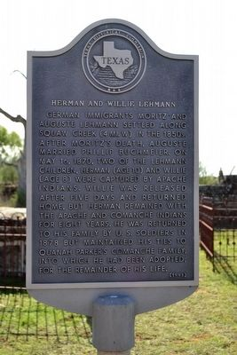 Herman and Willie Lehmann Marker image. Click for full size.