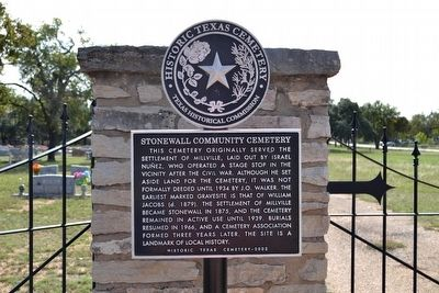 Stonewall Community Cemetery Marker image. Click for full size.