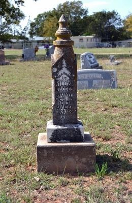 Headstone of Grave of William Jacobs<br>(October 15, 1813 - June 10, 1879) image. Click for full size.