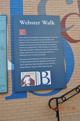 Webster Walk Marker image. Click for full size.