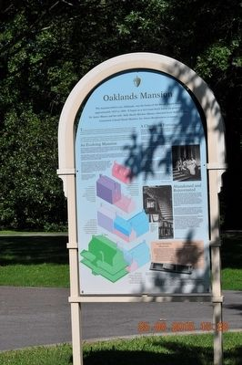 Oaklands Mansion Marker image. Click for full size.