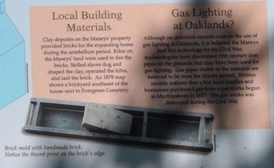 Local Building Materials/ Gas Lighting at Oaklands? image. Click for full size.