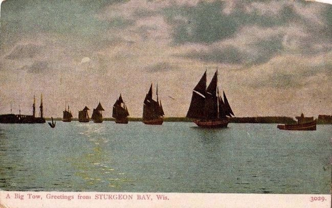 <i>A Big Tow, Greetings from STURGEON BAY, Wis.</i> image. Click for full size.