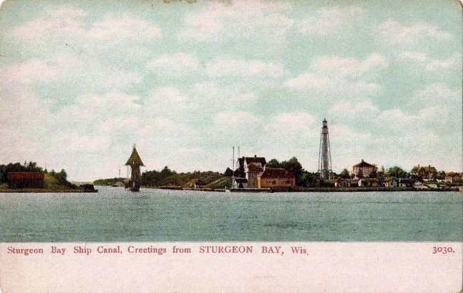 <i>Sturgeon Bay Ship Canal, Greetings from STURGEON BAY, Wis.</i> image. Click for full size.