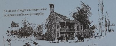 As the war dragged on, the troops raided local farms and homes for supplies. image. Click for full size.