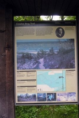 Trail Information Sign at Cowles Bog Trail Head image. Click for full size.