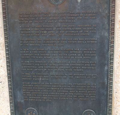 Louisiana State University and Agricultural and Mechanical College Marker image. Click for full size.