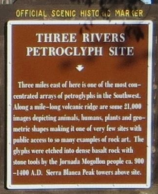 Three Rivers Petroglyph Site Marker image. Click for full size.
