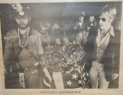 Robert Redford, a pallbearer at the reburial of John Johnston image. Click for full size.