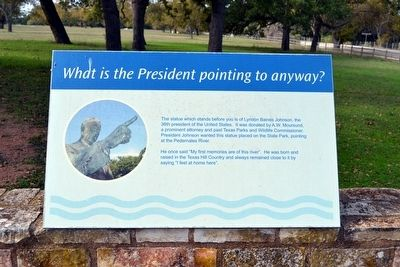 What is the President pointing to anyway? Marker image. Click for full size.