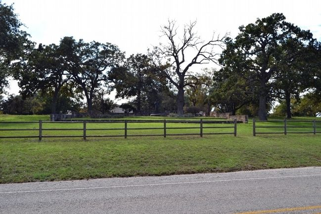 View of Lyndon B. Johnson Statue from Ranch Road 1 image. Click for full size.