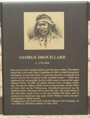 George Drouillard plaque image. Click for full size.