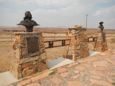 The American Mountain Man Monument image. Click for full size.