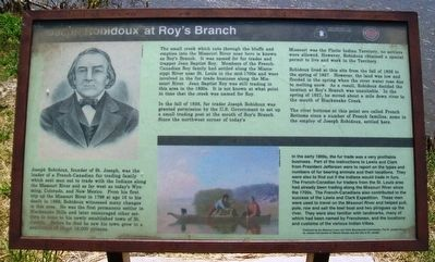 Joseph Robidoux at Roy's Branch Marker image. Click for full size.