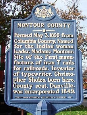 Montour County Marker image. Click for full size.