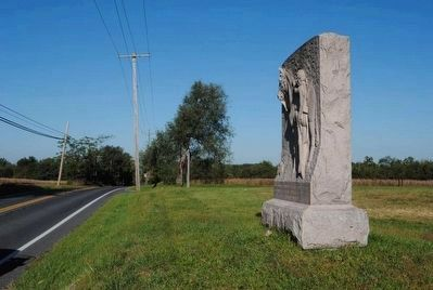 1st Maine Cavalry Monument<br>Looking West Along Hanover Road image. Click for full size.