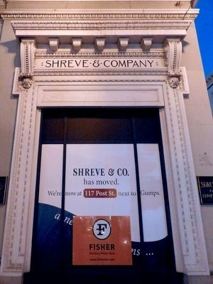 Shreve and Co. has moved. image. Click for full size.