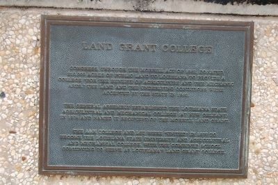 Land Grant College Marker image. Click for full size.
