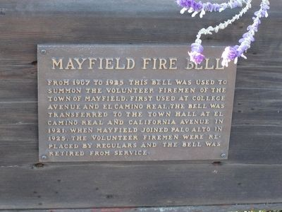 Mayfield Fire Bell Marker image. Click for full size.