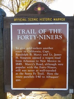 Trail of the Forty-Niners Marker image. Click for full size.