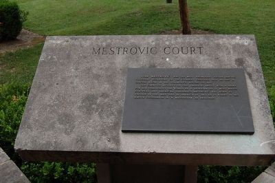 Mestrovic Court Marker image. Click for full size.