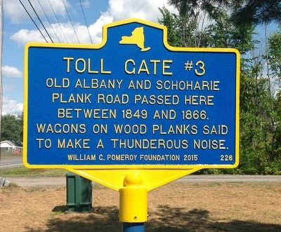 Toll Gate #3 Marker image. Click for full size.